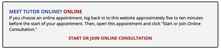 The Access Link for the OCM on the Appointment Form