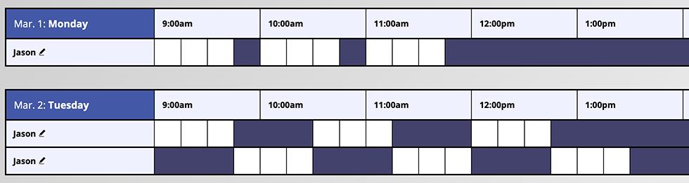 Alternating Time Blocks Example
