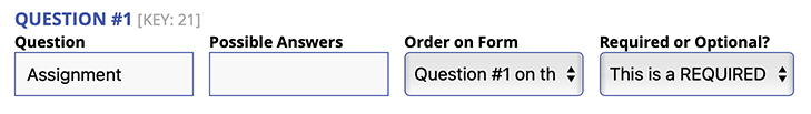 Adding a New Question on the CRF Form