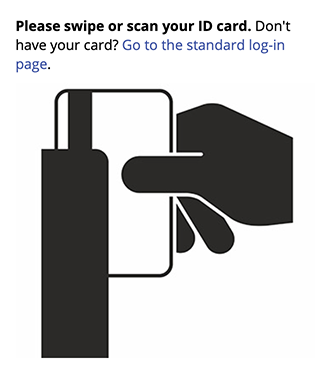 Card Swipe Graphic on the Login Page