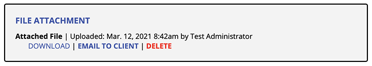 File Attachment Display on Appointment Form