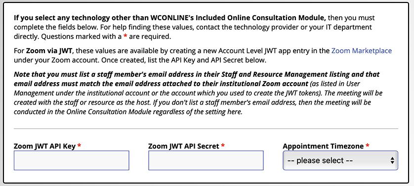 Zoom Integration Form