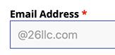 Domain Limit Displayed on Registration Form