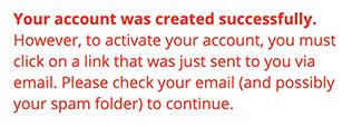 Login Page Activation Error