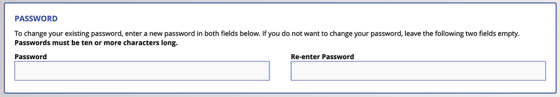 Password Entry Field on Registration Form