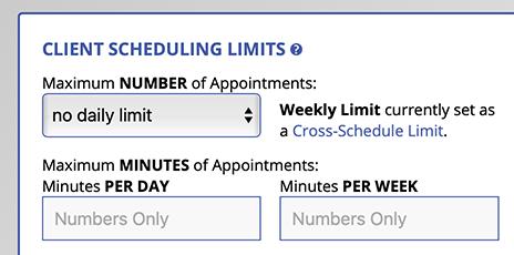 Cross-Schedule Limit Display in Schedule Management
