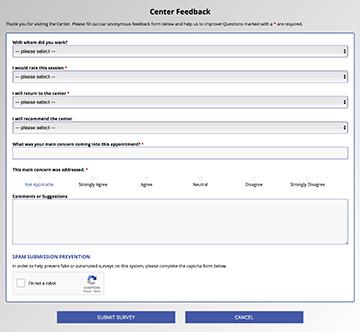 WCONLINE Client Survey Example
