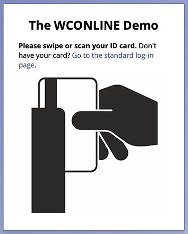 Card Reader Login Page
