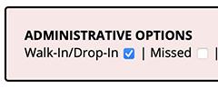 Walk-In/Drop-In Checkbox